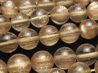 天然石卸 1連980円!ブロンズシャインクリスタル ラウンド12mm 1連(約37cm)