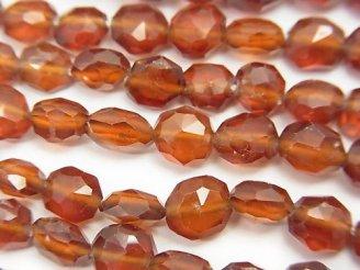 天然石卸 素晴らしい輝き!ヘソナイトAAA タンブルカット 1連(約18cm)