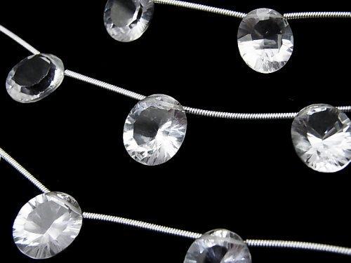 【動画】宝石質クリスタルAAA オーバル コンケーブカット12×10mm 1連(4粒)