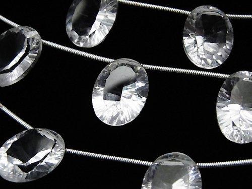 宝石質クリスタルAAA オーバル コンケーブカット16×12mm 1連(4粒)