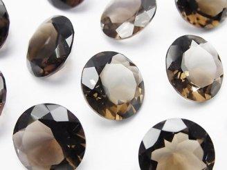 天然石卸 2粒1,280円!宝石質スモーキークォーツAAA 穴なしブリリアントカット16×16mm 2粒