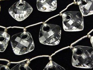 天然石卸 1連3,980円!宝石質クリスタルAAA ドーナツ型ダイヤカット 1連(7粒)