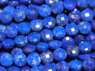 天然石卸 素晴らしい輝き!ラピスラズリAAA コインカット4×4×2.5mm 半連/1連(約38cm)