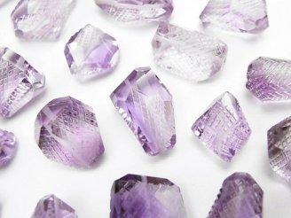 天然石卸 粒売り!宝石質ローズアメジストAAA 彫刻入りタンブルカット 6粒3,980円!
