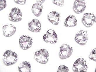 宝石質ローズアメジストAAA ハートシェイプカット 7×7×4mm 10粒〜1連(ブレス)