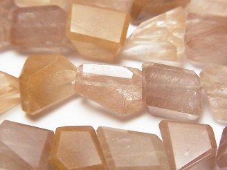 天然石卸 オレンジルチルクォーツAAA- タンブルカット 半連/1連(約24cm)