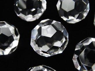 天然石卸 希少品!クリスタルAAA+ 「バッキーボール」 穴なしラウンドカット18mm 1個980円!