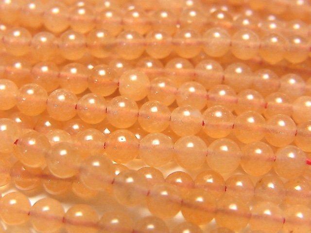 オレンジアベンチュリン 極小ラウンド3mm 1連(約38cm)