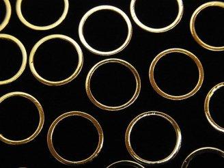 天然石卸 メタルパーツ コンポーネント リング(ラウンド)10×10mm ゴールドカラー 20個280円!