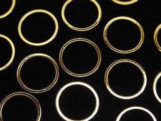 天然石卸 メタルパーツ コンポーネント リング(ラウンド)12×12mm ゴールドカラー 20個280円!