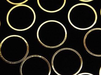 天然石卸 メタルパーツ コンポーネント リング(ラウンド)14×14mm ゴールドカラー 10個180円!