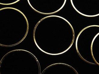 天然石卸 メタルパーツ コンポーネント リング(ラウンド)20×20mm ゴールドカラー 10個240円!
