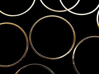 天然石卸 メタルパーツ コンポーネント リング(ラウンド)25×25mm ゴールドカラー 10個280円!