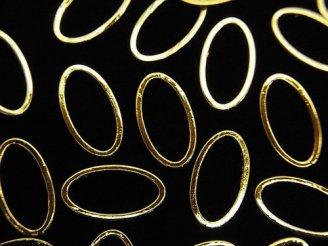 天然石卸 メタルパーツ コンポーネント オーバル13×7mm ゴールドカラー 10個240円!