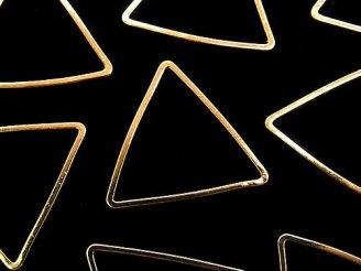 天然石卸 メタルパーツ コンポーネント トライアングル18×18mm ゴールドカラー 10個280円!