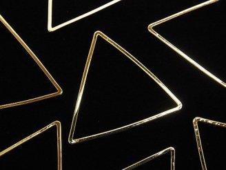 天然石卸 メタルパーツ コンポーネント トライアングル24×24mm ゴールドカラー 5個240円!
