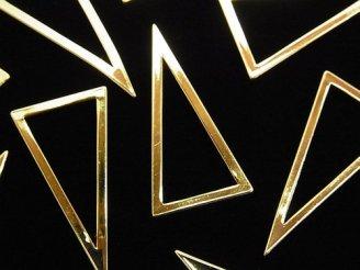 天然石卸 メタルパーツ コンポーネント トライアングル28×15mm ゴールドカラー 5個340円!