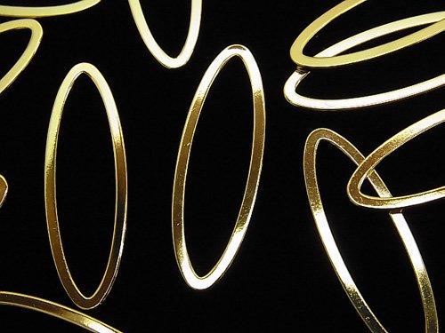 メタルパーツ コンポーネント オーバル30×10mm ゴールドカラー 5個340円!
