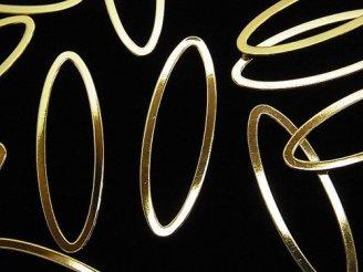 天然石卸 メタルパーツ コンポーネント オーバル30×10mm ゴールドカラー 5個340円!