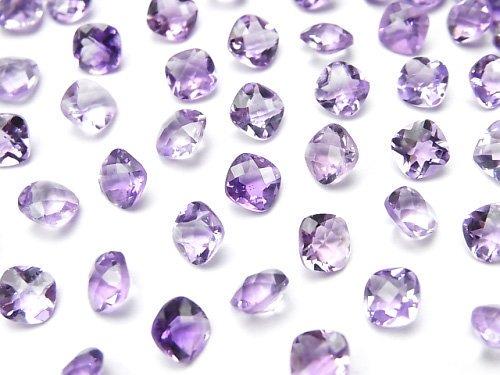 宝石質アメジストAAA 穴なしスクエアファセットカット5×5mm 10粒