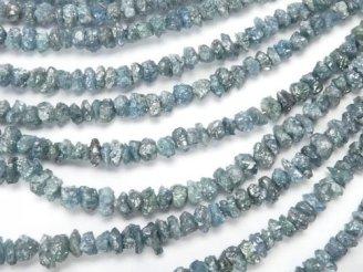 天然石卸 ブルーダイヤモンド チップ(ミニタンブル) 1/4連〜1連(約38cm)