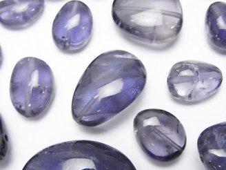 天然石卸 粒売り!宝石質アイオライトAA++ タンブル 5粒1,380円〜!