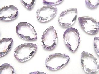 天然石卸 宝石質ピンクアメジストAAA 穴なしペアシェイプクッションカット12×8mm 4粒1,180円!