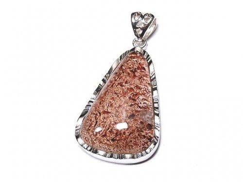 【1点もの】宝石質レピドクロサイトインクォーツAAA ペンダントトップ SILVER925製 NO.61