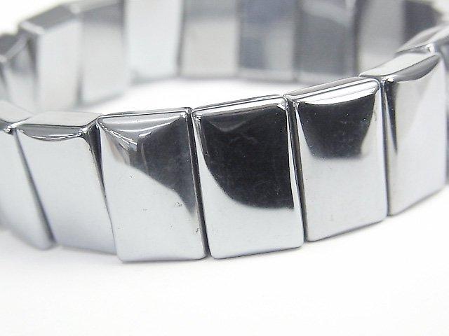 高純度テラヘルツ鉱石 2つ穴レクタングル16×10×5mm  1連(ブレス)