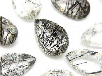 天然石卸 粒売り!宝石質トルマリンクォーツAAA 穴なし ペアシェイプファセットカット 3粒 1,980円