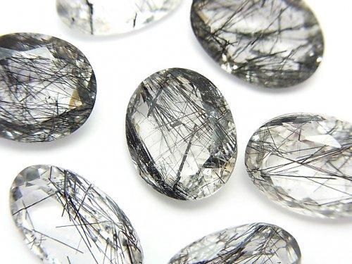【動画】【粒売り】宝石質トルマリンクォーツAAA 穴なし オーバルファセットカット 3粒1,980円