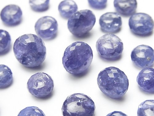 【粒売り】宝石質タンザナイトAAA 大粒ボタンカット 10粒2,980円〜!