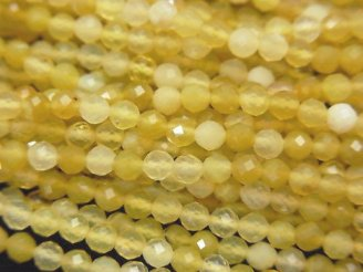 天然石卸 素晴らしい輝き!1連680円!イエローオパールAA++ ラウンドカット3mm 1連(約37cm)