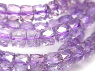 天然石卸 1連2,480円!素晴らしい輝き!宝石質ピンクアメジストAAA- ボタンカット7×7×5mm 1連(ブレス)