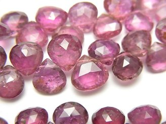 天然石卸 宝石質ピンクトルマリンAAA マロン ブリオレットカット カラーグラデーション 半連/1連(約17cm)