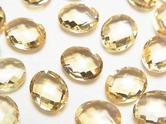 天然石卸 宝石質シトリンAAA 穴なしオーバルクッションカット11×9mm 3粒880円!