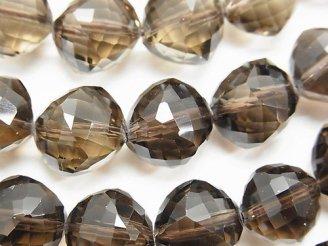 天然石卸 素晴らしい輝き!スモーキークォーツAAA ダイスカット15×15×15mm 半連/1連(約18cm)