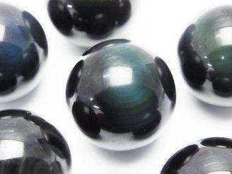 天然石卸 オブシディアンAAA 大粒穴なしラウンド35mm 3個2,480円!