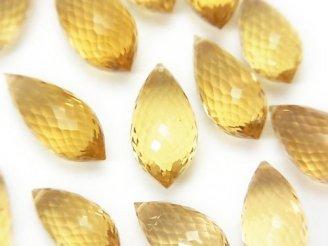 天然石卸 粒売り!極上カット!宝石質ビアクォーツAAA マーキスライス ブリオレットカット 5粒2,980円〜!