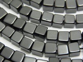 天然石卸 1連1,780円!ブラックトルマリンAAA- キューブ5×5×5mm 1連(約37cm)