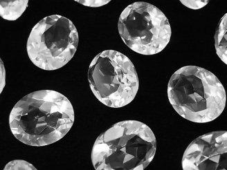 天然石卸 宝石質クリスタルAAA 穴なしオーバルファセットカット12×10mm 6粒1,580円!