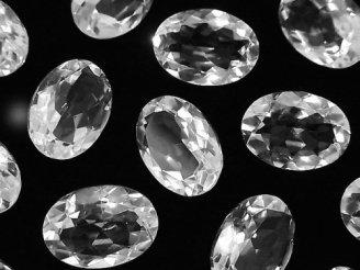 天然石卸 宝石質クリスタルAAA 穴なしオーバルファセットカット18×13mm 3粒1,680円!