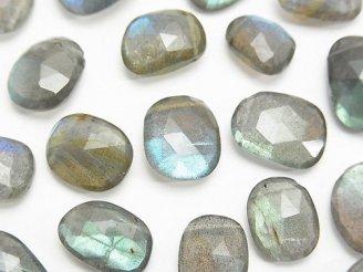 天然石卸 粒売り!宝石質ラブラドライトAAA- フリーフォーム ローズカット 3粒2,480円!