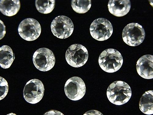 宝石質クリスタルAAA 穴なしラウンドファセットカット6×6mm 10粒