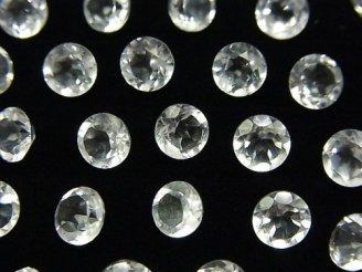 天然石卸 粒売り!宝石質クリスタルAAA 穴なしブリリアントカット6×6×3mm 10粒580円!