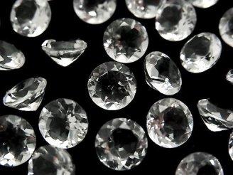 天然石卸 粒売り!宝石質クリスタルAAA 穴なしブリリアントカット8×8×5mm 5粒580円!
