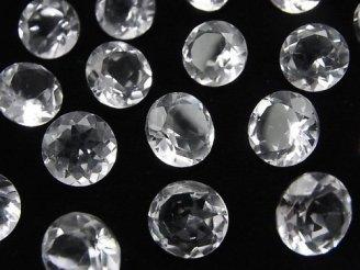 天然石卸 粒売り!宝石質クリスタルAAA 穴なしブリリアントカット11×11×6mm 5粒1,180円!
