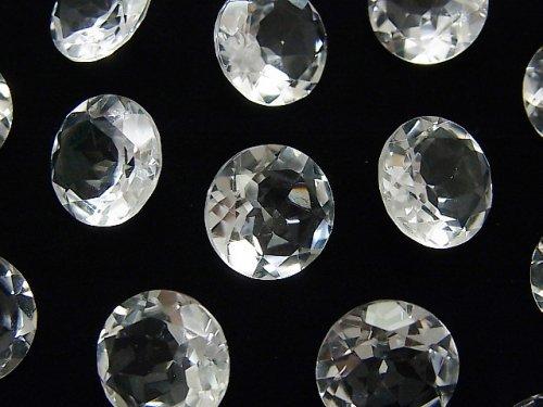 宝石質クリスタルAAA 穴なしラウンドファセットカット12×12mm 5粒