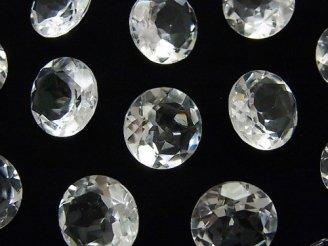 天然石卸 粒売り!宝石質クリスタルAAA 穴なしブリリアントカット12×12×6mm 5粒1,280円!
