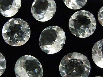 宝石質クリスタルAAA 穴なしラウンドファセットカット14×14mm 5粒